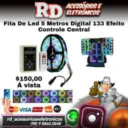 FITA DE LED DIGITAL 5m 133 EFEITOS CENTRAL CONTROLE