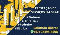 Serviços em geral, pedreiro, pinturas em geral eletricista Residêncial
