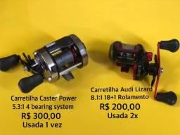 Carretilhas Caster Power e Audi Lizard