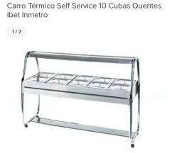 Carro térmico self service