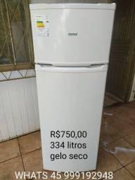 Geladeira duplex cônsul ,334 litros, gelo seco, funcionando
