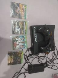 Xbox 360 4 jogos destravado por 800 2 controle