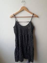 Vestido preto estampado