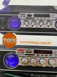 Mini amplicador de som le-706