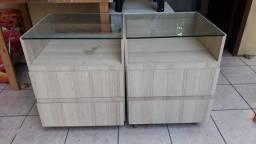 Título do anúncio: Vendo 2 Criados Mudos -MDF com vidro