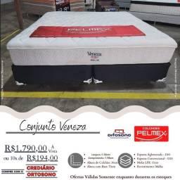 Cama Queen Pelmex De Molas LFK