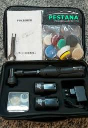 Mini politriz orbital maleta com boinas