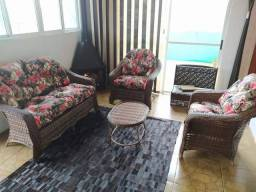 Conjunto de sofá vilas boas em fibra sintética