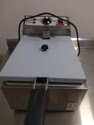 Fritador Elétrico Industrial com Cuba 5 litros 220v - Fritadeira Elétrica Nova com  NF