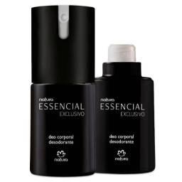 Deo corporal essencial exclusivo + refil de brinde 100ml cada