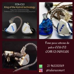 Fone Para Retorno de Palco 12 drivers Cca C12 Original Lacrado