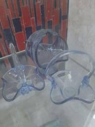 Cestas antigas cristal