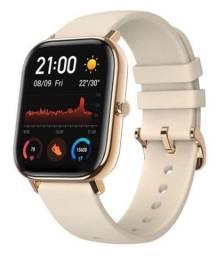 Relógio smartwatch xiaomi GTS a1914 desert gold dourado