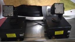 Mini Moving Wash Led Ultra Brilho Rgb Dmx (Quadrado)