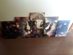 Quadro decorativo Lord Ganesha Deus 154x65