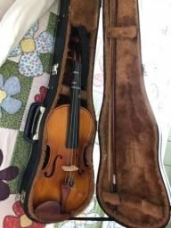 Violino de Luthier, feito a mão com madeira regional, super conservado