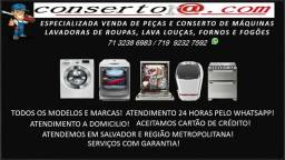 Conserto de máquinas de lavar roupa, Lava loças, Fogões e fornos!