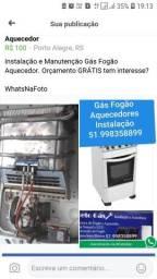 Técnico Gás Conversão Aquecedor Manutenção e Instalação