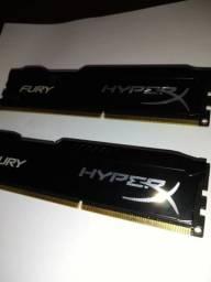 Memória HyperX Fury, 4GB, 1600MHz, DDR3