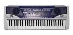 Teclado Eletrônico Musical Piano 61 teclas com Ritmos e Timbres AK 3000