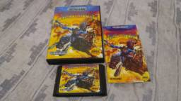 SUNSET RIDER COM BOX E MANUAL DE MEGA DRIVE