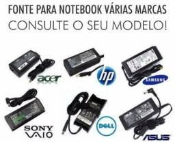 Fonte notebook várias marcas