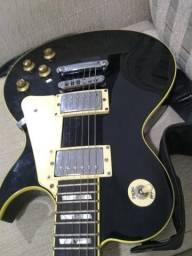 Guitarra SX Les Paul + case acolchoado + correia Basso - (até 12x no cartão de crédito)