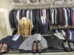 Ternos a partir de R$ 99,99 , camisas, gravatas , sapatos cintos e acessórios.