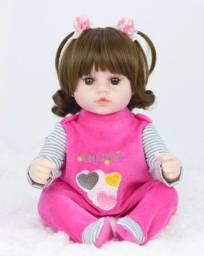 Boneca bebê Reborn Menina realista a pronta entrega 42 cm