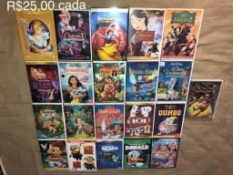DVDs Raros Clássicos Infantil da Disney