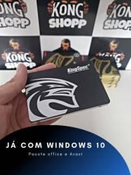 SSD KINGSPEC 120GB SATA III - JÁ COM WINDOWS 10 PRO