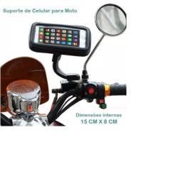 Suporte Case Capa Celular À Prova D'água 5,5'' Gps Moto Bike