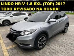 HR-V 1.8 EXL (TOP) 2017 totalmente revisado na Honda. Oportunidade!