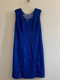 Vestido curto azul anil