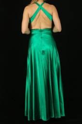 Vestido de festa verde bandeira semi novo