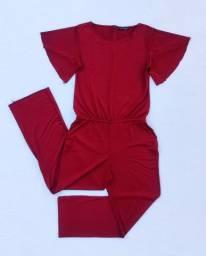 Macacão longo calça comprida vermelho/vinho (Patrícia Foster) @brchgrls