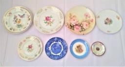 Pratos de porcelana antigos - leia
