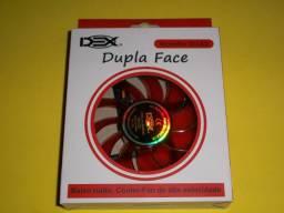 Cooler Dupla Face p Gabinete 120mm com LED Vermelho Dex