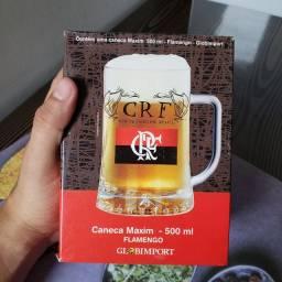 Caneca de vidro Flamengo 500ml