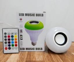 Lâmpada Led Bluetooth Music (aceito cartão)