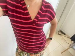 Camisa com manga curta