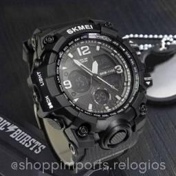 Título do anúncio: Relógio Masculino Skmei 1155 Preto Anadigi Original