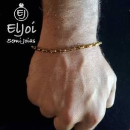 Título do anúncio: Pulseira masculina em aço dourado