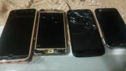 Lote com 4 celulares para arrumar ou retirada de peças