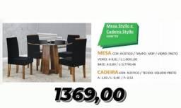 conjunto mesa com 4 cadeiras styllo - entrega grátis