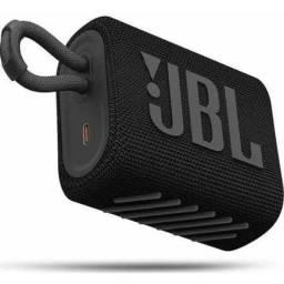 Caixa De Som Jbl Go 3 Original - Preto E Vermelho