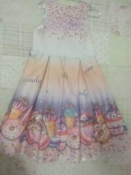 Título do anúncio: Vestido infantil de festa Cup Cake