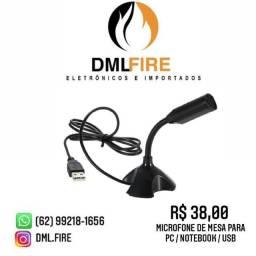 MICROFONE DE MESA PARA PC / NOTEBOOK / USB