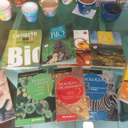 Livros de biologia p/ ens. Médio e Vestibular