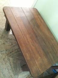 Vendo mesa centro madeira maciça